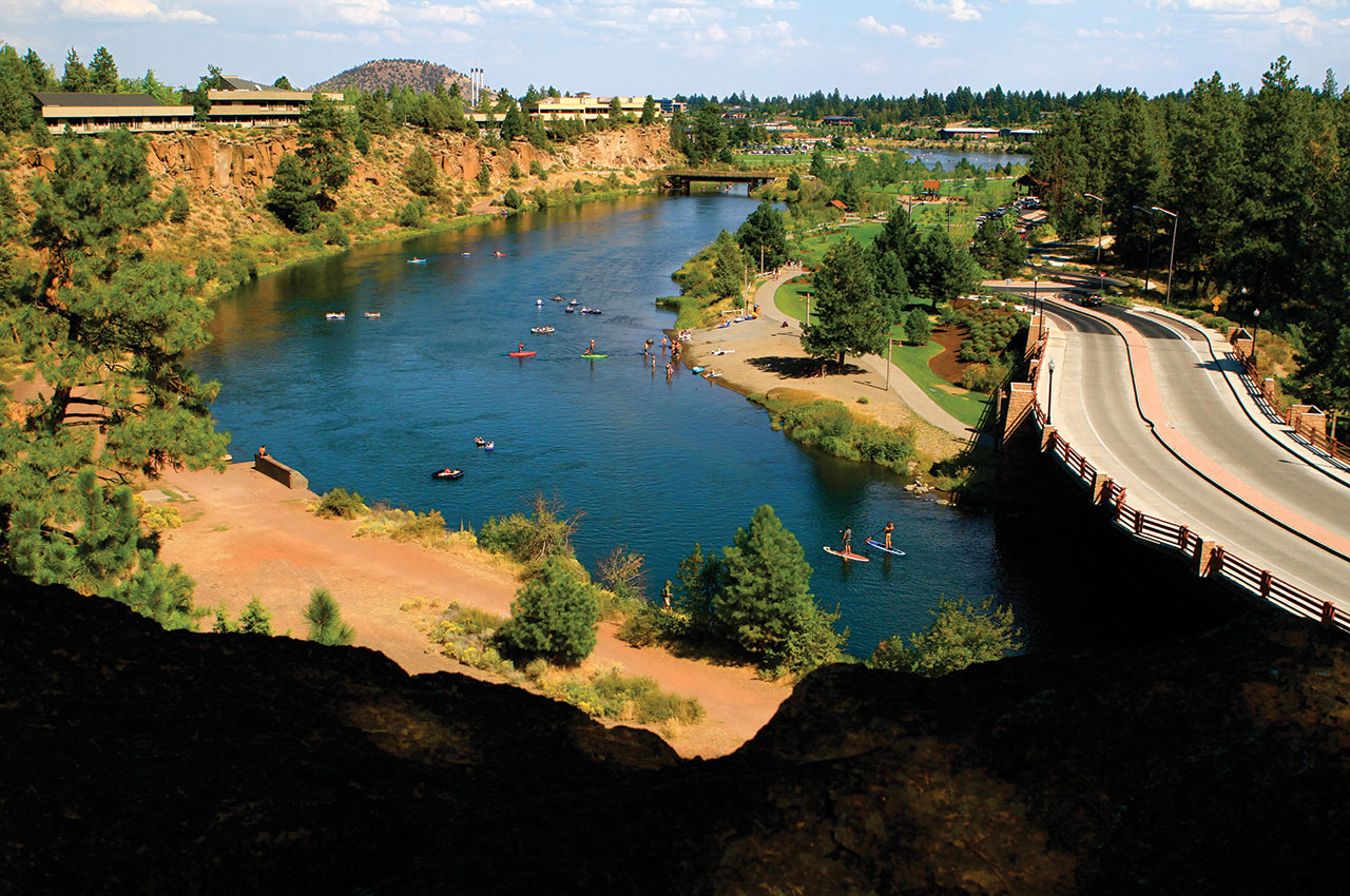 Stand-up paddleboarding on the Deschutes River. Pete Alport